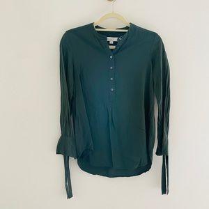 LOFT Green Petite XS Blouse A2
